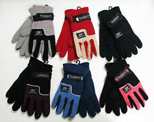 New Women's Winter Fleece Gloves Thermal Insulated Warm Colors One Size Fit Most