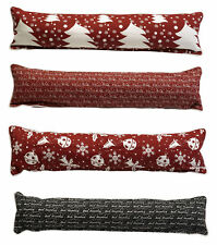 Festive Xmas Draught Excluder Cushion Window or Door Guard Christmas Home Decor