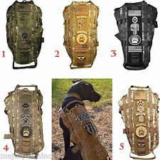 NEW CAMO US TACTICAL HARNESS VEST POLICE K9 DOG MOLLE USA MILSPEC CANINE VELCRO