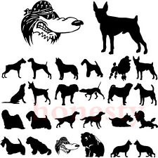 Cartoon Animal Dogs Sticker Figure Human Car Truck Window Vinyl Decal Home Wall