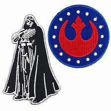REBEL ALLIANCE STAR WARS DARTH VADER IMPERIAL EMBROIDERED IRON ON PATCH