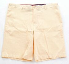 Izod Yellow Corded Stripe Flat Front Casual Shorts Mens NWT