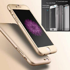 Ultra Thin Hard Case Full Body Cover + Free Tempered Glass For iPhone 6 6 Plus
