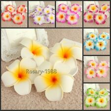 98P*9cm Foam Floating Frangipani/Plumeria/Hawaiian Flower Heads Wedding Decor