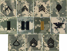 Any 6 ACU Digital Camouflage Military Rank Rip-Stop Insignia Patch USA Made