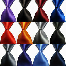 Hot! Solid Plain Classic 100%New Silk Jacquard Woven Necktie Men's Tie 12 Colors