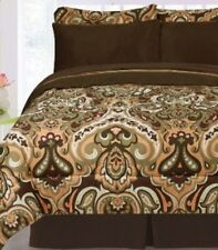 Bedding- 8 Piece Biloxi Reversible Bed in a Bag- Bed Comforter Twin Full