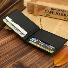 New Men's Genuine Leather Bifold Money Clip Wallet ID Credit Card Holder Gift