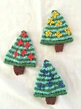 Hand Knitted Christmas Tree Decoration