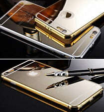 Luxury Metal Bumper Mirror Case Cover Skin Protector fr iPhone 5 5S SE 6 6S Plus