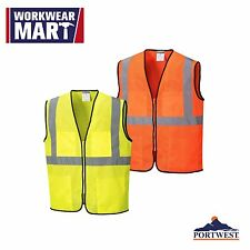Safety Vest Hi Vis Mesh Reflective High Visibility ANSI Class 2, Portwest US380