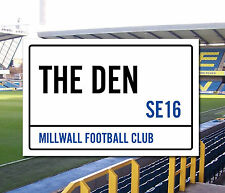 Millwall Football Club The Den Stadium Street Sign A5 & A4 sizes