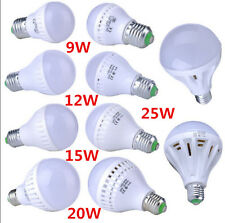 Warm White LED Energy Saving Globe Light Bulb Lamp E27 9/12/15/20/25W 110V 220V