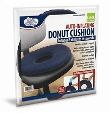 Auto Inflating Donut Cushion Hemorrhoids Pelvic Pain Chair Seat Travel Support