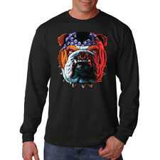Tuff Dog Bulldog Puppy Dog Big In Your Face Design Long Sleeve T-Shirt Tee