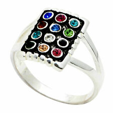 Sterling silver 925 Swarovski Ring, Israel 12 tribes Hoshen breastplate Judaica