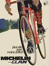 Michelin - Elan - Vintage Bicycle Poster - Cycling
