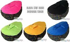 NEW Baby Kids Portable Bean Bag Seat - BLACK STAR BASE - NSW seller - ACCC appr