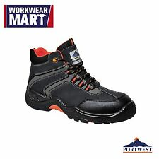 Safety Work Boot Shoe Composite Toe Cap Leather Water Resistant, Portwest FC60