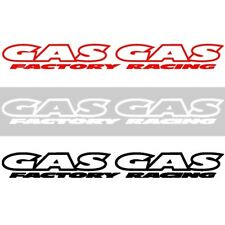 Factory Racing NEW Mx Gas Gas Moto Decal Black Red White 200mm Motocross Sticker