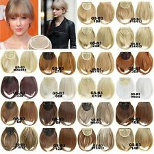 Clip In Straight Neat Bangs 2 Clips Fringe Synthetic Hair Extensions Hair Pieces