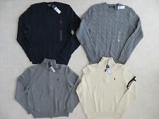 POLO RALPH LAUREN MENS 1/4 FULL ZIP CABLE KNIT PULLOVER CARDIGAN SWEATER PONYNWT