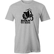 Born To Ride T-Shirt Scooter Funny Moped Rider Gift Idea Tee New