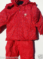 2 piece Snowsuit Girl RED Size 92 3 4 5 6 YEARS NEW