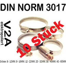 10 Pcs Hose clamps - V2A DIN 3017 hose clamps Stainless steel