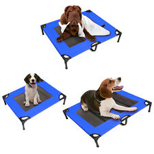 Pet Dog Trampoline Hammock Bed Cat Puppy Cover Heavy Duty Foldable Frame Blue AU