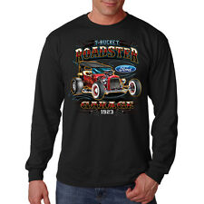 Ford T-Bucket Roadster Hot Rat Rod Classic Car Long Sleeve T-Shirt Tee
