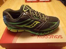 SAUCONY MEN'S GUIDE 8 RUNNING SHOES WIDE (2E) BLACK/GREEN MULTIPLE SIZES NEW