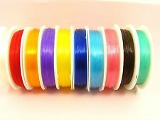 1 Spool x 0.6mm Stretch ELASTIC Magic BEADING String Thread CORD ~ Pick Color ~