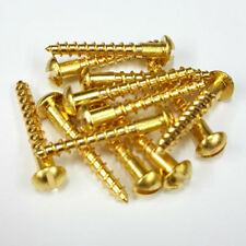 Solid Brass Slotted Round (Dome) Head Wood Screws in Various Sizes and Packs