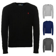 Mens Cable Knit Jumper by Polo Ralph Lauren Small Pony Logo Knitwear Sweater