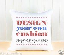 DESIGN YOUR OWN PERSONALISED SOFT CUSHION COVER WITH YOUR IMAGE PHOTO TEXT GIFT