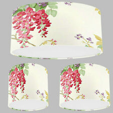 Handmade Lampshade with Laura Ashley Wisteria Cranberry Red Wallpaper Lamp Shade