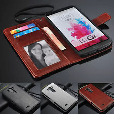 Luxury PU Leather Card Holder Wallet Flip Cover Stand Case For LG G3 G4 Stylus
