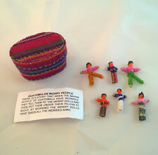Fair Trade Guatamalan Worry Dolls in Textile covered Box