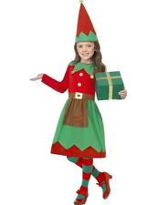 Child Christmas Elf Girl Santas Helper Xmas Outfit Fancy Dress Costume