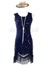 Vintage 1920s Flapper Dress with Headpiece Fringe Great Gatsby Party Charleston