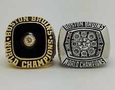2PCS Boston Bruins 1970 1972 Stanley Cup championship ring Hockey Size 9-13