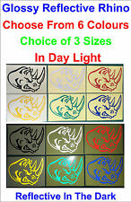 1x Reflective Rhino Glossy Vinyl Stickers For Car or Home Decal