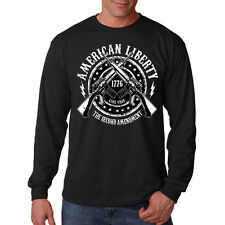 American Liberty AR-15 Rifles 2nd Amendment Guns Long Sleeve T-Shirt Tee