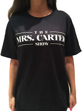 BEYONCE T-Shirt Black. The Mrs. Carter Show World Tour. Unisex Top. 6 Sizes