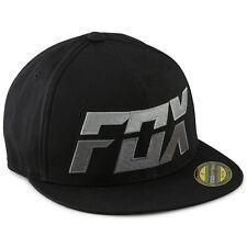 Fox Racing NEW Mx Stack 210 Flat Bill Hat FMX Motocross Mens Black Fitted Cap