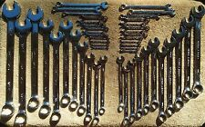Craftsman Full Polish Inch Combination Wrench Sets 24 SAE, 24 MM or 48 Pc SAE/MM