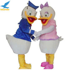 Prop Mr. Donald Duck and Mrs. Daisy Duck Mascot Costume Fancy Dress Adult Size
