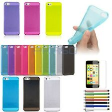 For iPhone 5 5S 5G  Ultra Thin Glossy Clear Crystal Snap-On Hard Case Cover