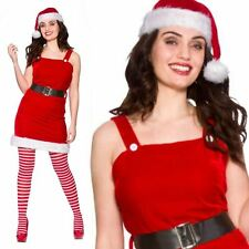 Adult Little Miss Santa Outfit Fancy Dress Costume Sexy Christmas Xmas Female